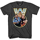 WWE Andre The Giant Shirt - Andre The Giant, Big Boss Man & Bam Bam Bigelow - World Wrestling T-Shirt (Charcoal Heather, X-Large)
