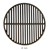 DcYourHome 15' Cast Iron Cooking Grid Grates Big Green Egg Replacement Parts, Round Cooking Grate for Medium Big Green Egg Grill Accessories BBQ Round Grate Accessories