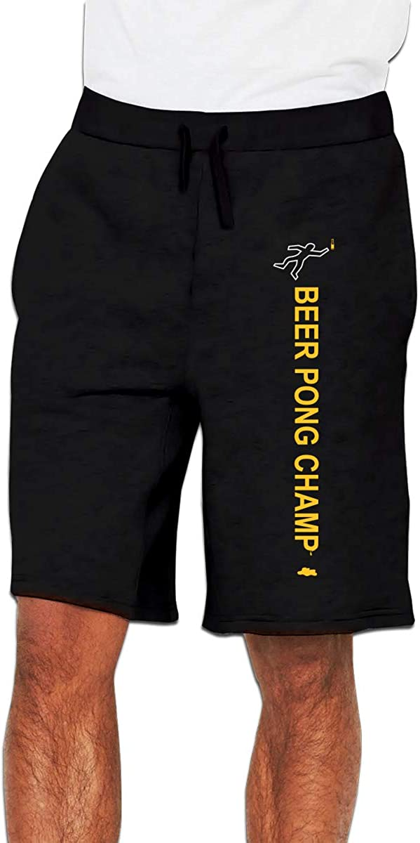 Beer Pong Champ Mens Short Pants with Two Pockets