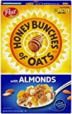 Post Honey Bunches of Oats with Crispy Almonds, Whole Grain, Low Fat Breakfast Cereal 18 oz. Box (Packaging may vary)