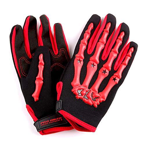 Product Image 1: 1Storm Motocross Adult Helmet BMX MX ATV Dirt Bike Helmet Racing Red + Goggles + Skeleton Red Glove Bundle