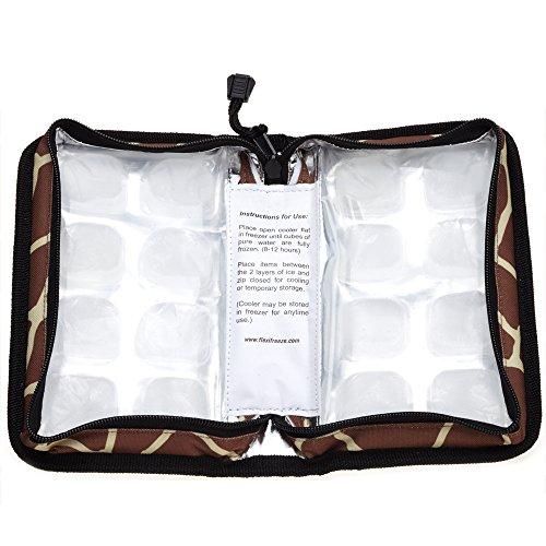 FlexiFreeze Pocketbook Breastmilk Cooler, Giraffe