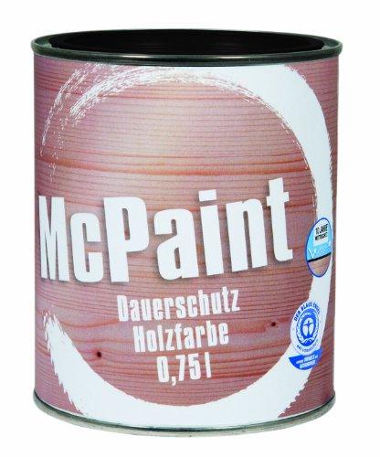 McPaint Wetterschutzfarbe – Holzfarbe für außen auf Acryl Basis mit langanhaltendem Wetterschutz, PU-verstärkt, Möbellack, seidenmatt, 0,750L, Tiefschwarz - Weitere Farbtöne verfügbar