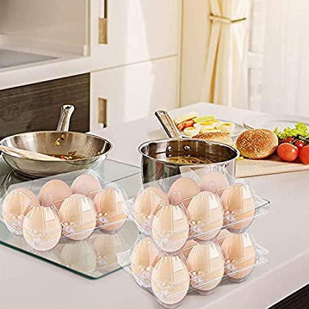 Market 10 Camping Travel Pack Clear Plastic Egg Cartons GYBest Refrigerator Storage Picnic 10//30//50 Chicken Farm Family Holds 6 Eggs Securely Bulk for Wholesale Chicken Egg Cartons