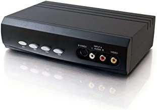 C2G 28750 4x2 S-Video +  Composite Video + Stereo Audio Selector Switch, Black