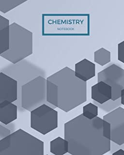Chemistry Notebook: 122 pages of hexagonal paper for Organic Chemistry Notes, 8x10 size to fit inside of a binder