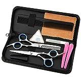 CYYMY Haarschere Set, 2 Extra Scharfe Haarschneideschere mit Etui, Licht Friseurscheren mit...