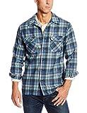 Pendleton Men's Long Sleeve Classic Fit Board Wool Shirt, Blue/Green Original Surf Plaid-30789, LG