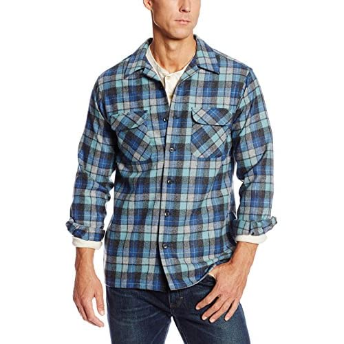 Pendleton Men's Big & Tall Long Sleeve Board Shirt Button