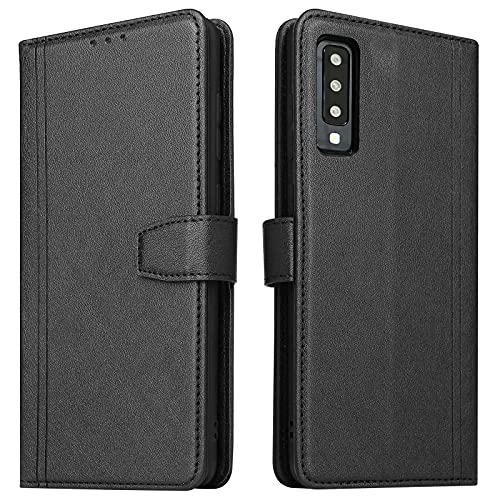 ZRANTU Handyhülle für Galaxy A7 2018 Hülle Leder, [RFID Schutz] Klapphülle mit Kartenfach/Magnetverschluss Handytasche Schutzhülle Lederhülle Flip Hülle für Samsung Galaxy A7 2018 (Schwarz)
