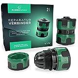 RASENWERK® - Reparatur Verbinder 1/2 und 5/8 Zoll - Wasserschlauch Verbindungsstück - Zubehör für Gartenschlauch - Schlauch Reparator - 2 Stück