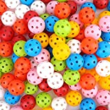 Faswin 105 Pack Practice Golf Balls, Colored 40mm...