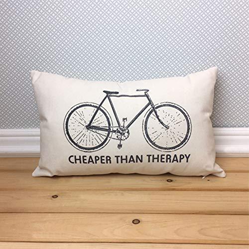 Goedkoper dan Therapy Fiets Kussen zonder insert, Road Bike Oblong Lumbar Throw Pillow, Fietser Cadeau,