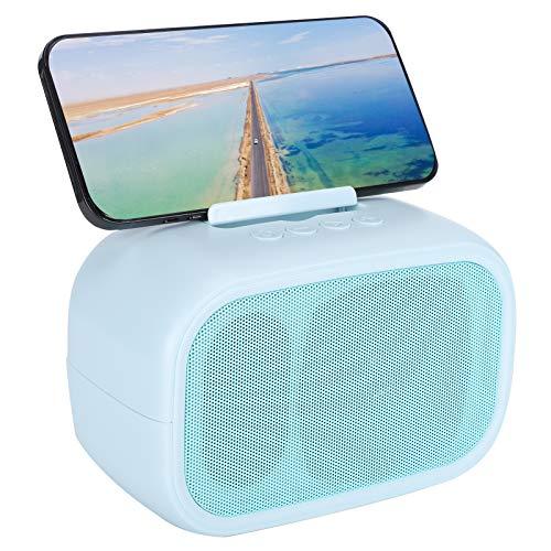 Garsentx Bluetooth Speaker, Portable Wireless Bluetooth 5.0 Speaker Support Memory Card/AUX/U Disk TWS Dual Loudspeaker Bass Speaker for Smartphone, Tablet, etc.(blue)