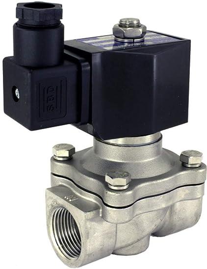 Duda Diesel 2W16015KN:110v 16 mm 1//2 NPT Normally Open Brass NBR 2-Way Solenoid Valve Brass NPT Female Connector