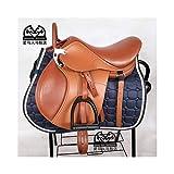 YAGEER MAAN Sella a Cavallo Protezione a Cavallo Sweat Pad Tappeto a Cavallo Knight Bowden Sottosella - Equitazione Numnah Equestrian Comfort Quilting PVC (Size : XL)