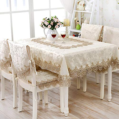 DUKAILIN Table Cloth Home Textiles Elegant Lace Tablecloths Jacquard Wedding Table Cloth Chair Covers Decoration Towels