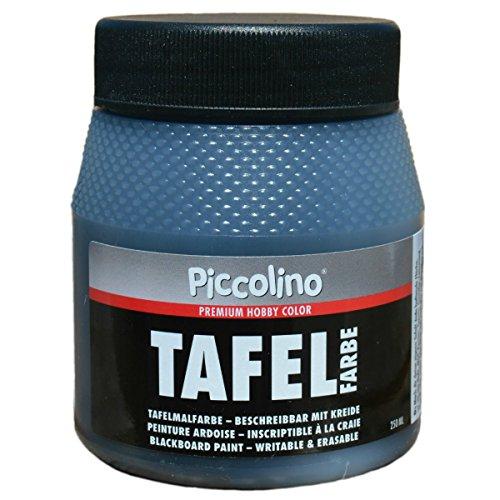 Tafelfarbe Schwarz 250ml - Piccolino Tafellack bunt für Holz, Karton, Wand