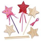 Baker Ross Baguettes magiques en bois (lot de 6) - Loisirs créatifs pour enfants