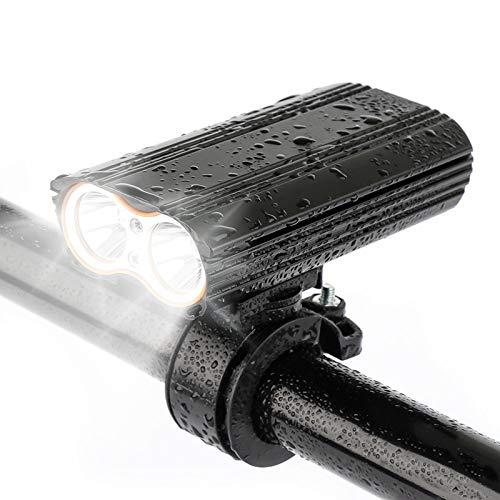 CAREXY Juego de Luces para Bicicleta, Luces de Ciclo Impermeables Recargables por USB Luces de Bicicleta Delanteras y traseras con batería de Larga duración