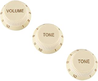 Fender Strat Soft Touch Knob Set, AGED WHITE, 099-2008-000
