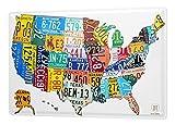 LEotiE SINCE 2004 Cartel Letrero de Chapa XXL Aventurero Mapa de Estados Unidos