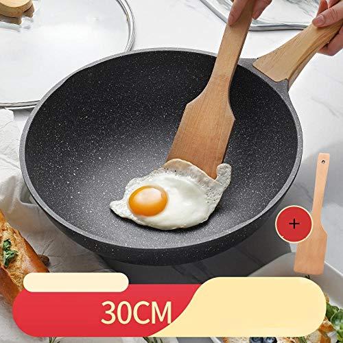 XHDY huishouden Maifan steen anti-aanbakpan wok inductiefornuis gasfornuis geschikt voor het koken speciale pan