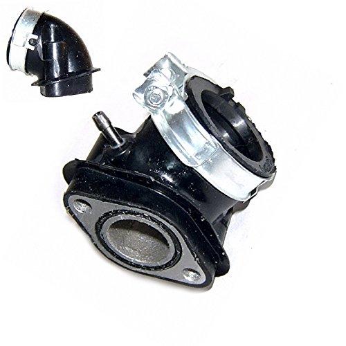ANSAUGSTUTZEN - ANSAUGBRÜCKE für 4-TAKT 152QMI / 157QMJ / GY6 Motoren z.B.für BAOTIAN AGM BENZHOU YIYING FLEX TECH HUATIAN HYOSUNG MOTINO BENERO JINLUN KREIDLER YIBEN ZNEN KYMCO JINAN QINGQI REX RS FOSTI CHINA ROLLER 125-150cc