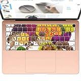 igsticker MacBook Air 13inch 2018 専用 キーボード用スキンシール キートップ ステッカー A1932 Apple マックブック エア ノートパソコン アクセサリー 保護 014995 秋 味覚 果物