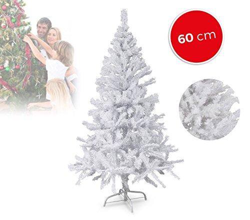 MEDIA WAVE store 294235 Abete Natalizio Sintetico BIANCONATALE Alto 60 cm Bianco 60 Punte