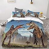 zpangg Dinosaures de Bande dessinée dans Jurassic Park Ensemble de literie d'impression 3D,Ensemble de Housse de Couette personnalisé pour Enfants,Enfants et bébés,Literie