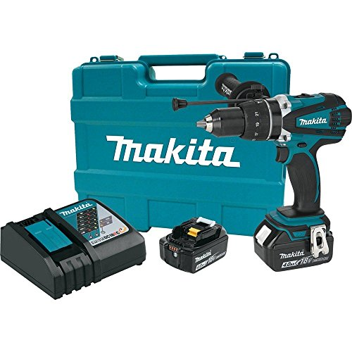 MAKITA XPH03MB 18V LXT Lithium-Ion Cordless 1/2-Inch Hammer Driver-Drill Kit (Renewed)