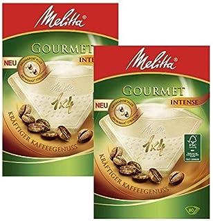 Melitta Lot de 2 boîtes de 80 filtres à café gourmet Taille 1x4