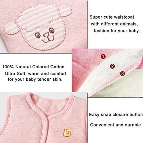 YUESUO Childrens Vest Style Down Cotton Infant Warm Vest Baby Fashion Autumn Winter Vest Waistcoat