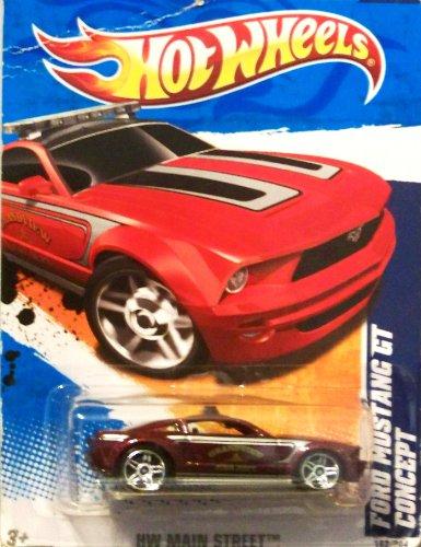 2011 Hot Wheels FORD MUSTANG GT CONCEPT HW MAIN STREET 2 of 10, #162 dark red maroon grandview fire dept by Mattel