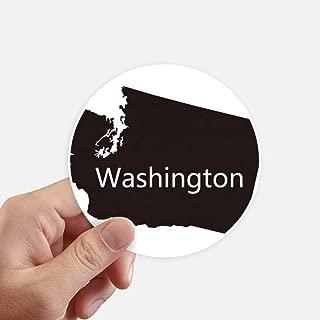 DIYthinker Washington The United States Map Round Stickers 10cm Wall Suitcase Laptop Motobike Decal 8pcs diameter 4 inch(10cm)