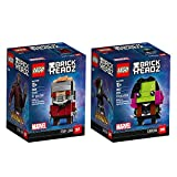 LEGO 6237625 Brickheadz Star-Lord and Gamora Bundle Building Kit (249 Piece)