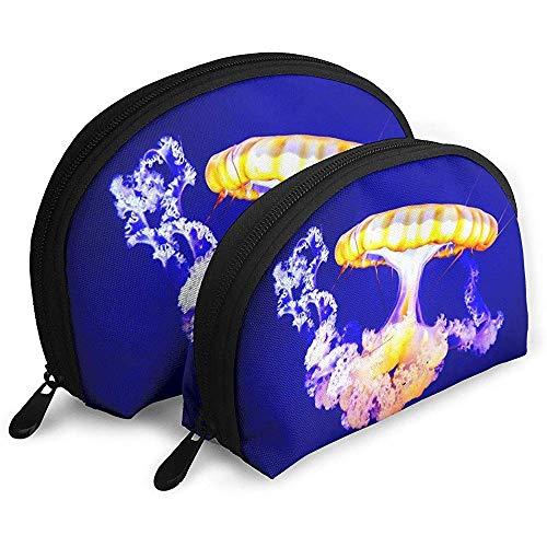 Sea Otter Ocean Unterwasser-Gelee Tragbare Schminktäschchen Kulturbeutel Tragbare Multifunktions-Reisetaschen Kleine Make-up-Clutch