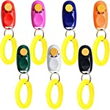 Coolrunner 7pcs 7 Color Universal Animal Pet Dog Training Clicker with Wrist Bands Strap, Assorted Color Dog Clickers for Pet Dog Training & Obedience Aid