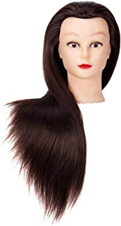 Cosmetology Mannequin Head Hair Styling 26-28inches Training Head Synthetic Fiber Manikin..