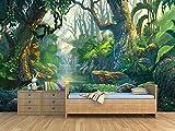 Oedim Fotomural Infantil Vinilo para Pared Selva | Mural | Fotomural Vinilo Decorativo |350 x 250 cm | Decoración comedores, Salones, Habitaciones