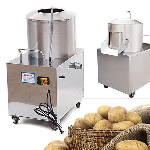Automatic Potato Peeler Washer, 1500W 110V Heavy Duty Commercial Potato Peeling Washing Machine 15-20 kg/times Potato Peeler Cleaning machine