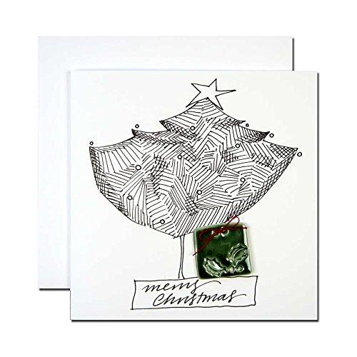 クリスマスカード by アーティスト 「マドレーヌ」 03 大きなクリスマスツリー