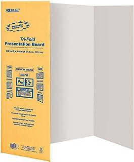 """BAZIC 36"""" X 48"""" White Tri-Fold Corrugated Presentation Board (Case of 24)"""