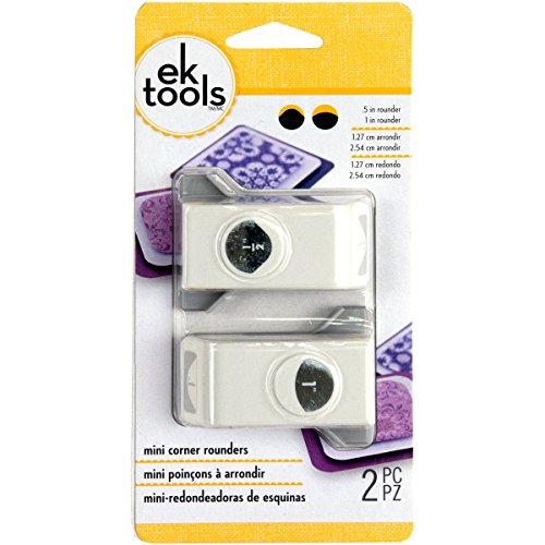 EK Tools 54-70026 Lot de 2 Poinçons à arrondir, Plastique/Métal, Gris, 2,31 x 8,89 x 17,7 cm