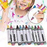 Gesicht und Körper Malen Buntstifte, 12 Farben Gesichtsfarbe Malstifte Gesichtsfarbe Schminkstifte, Ungiftig Körperbemalung Sticks für Kinder Körperbemalung, Buntstifte Kit für Kinder