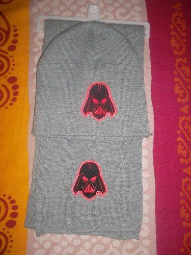 Ensemble bonnet, écharpe Dark vador Star Wars 2012 Lucasfilm Ltd. & TM Gris Chiné Taille 122/152-54/56