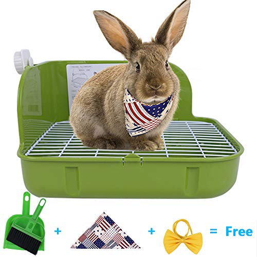 Humorous.P Small Animal Litter Pet Toilet Potty Trainer Corner Litter Bedding Box Pet Pan for Small...