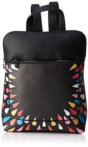 Desigual Bols_tears Splatter Nanaimo, Bolsos mochila Mujer, Negro, 11x35.5x28 cm (B x...