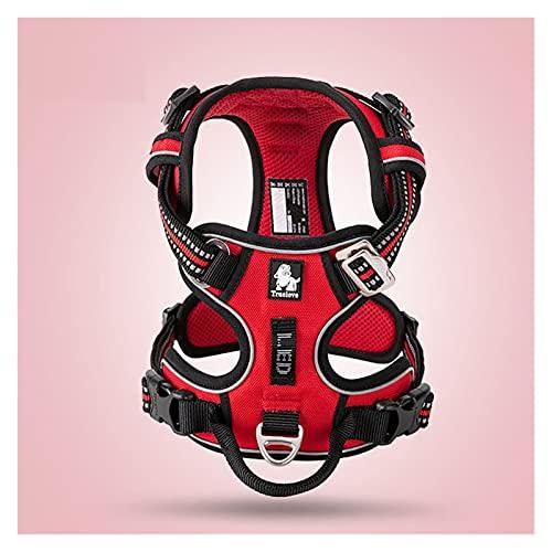 SKVVIDY ArnéS Perro Mediano Nylon Dog Harness No Tire Chaleco, cinturón de Seguridad Suave y Ajustable, Adecuado para Entrenamiento para Perros pequeños y Grandes. Correas para Perros